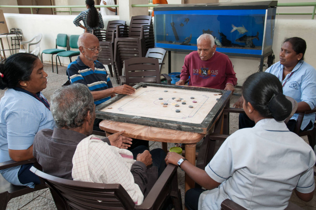Persons with Dementia being engaged in activities at NCAA