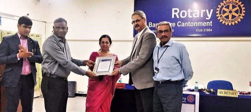 Rotary Service Award for excellence among voluntary organizations