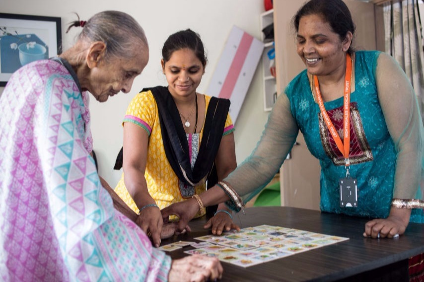 Games played by volunteers with our elders