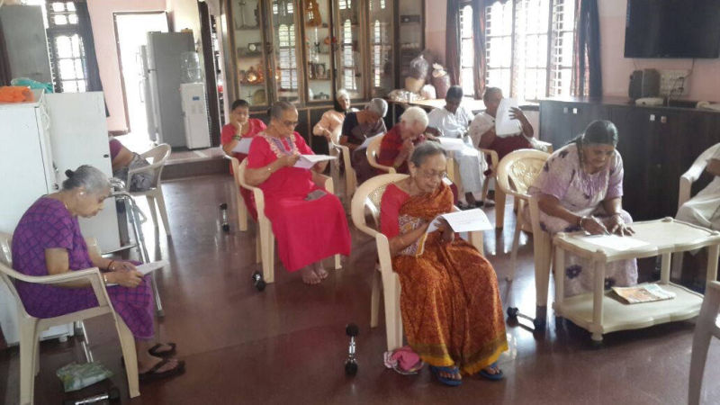 Cognitive session for elders at an old age home - MAA Program