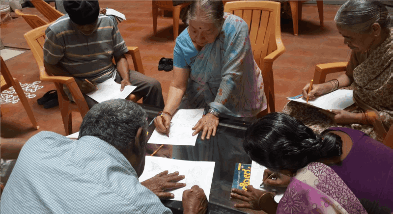 NMT's Mobile Active Ageing session at an Old Age Home